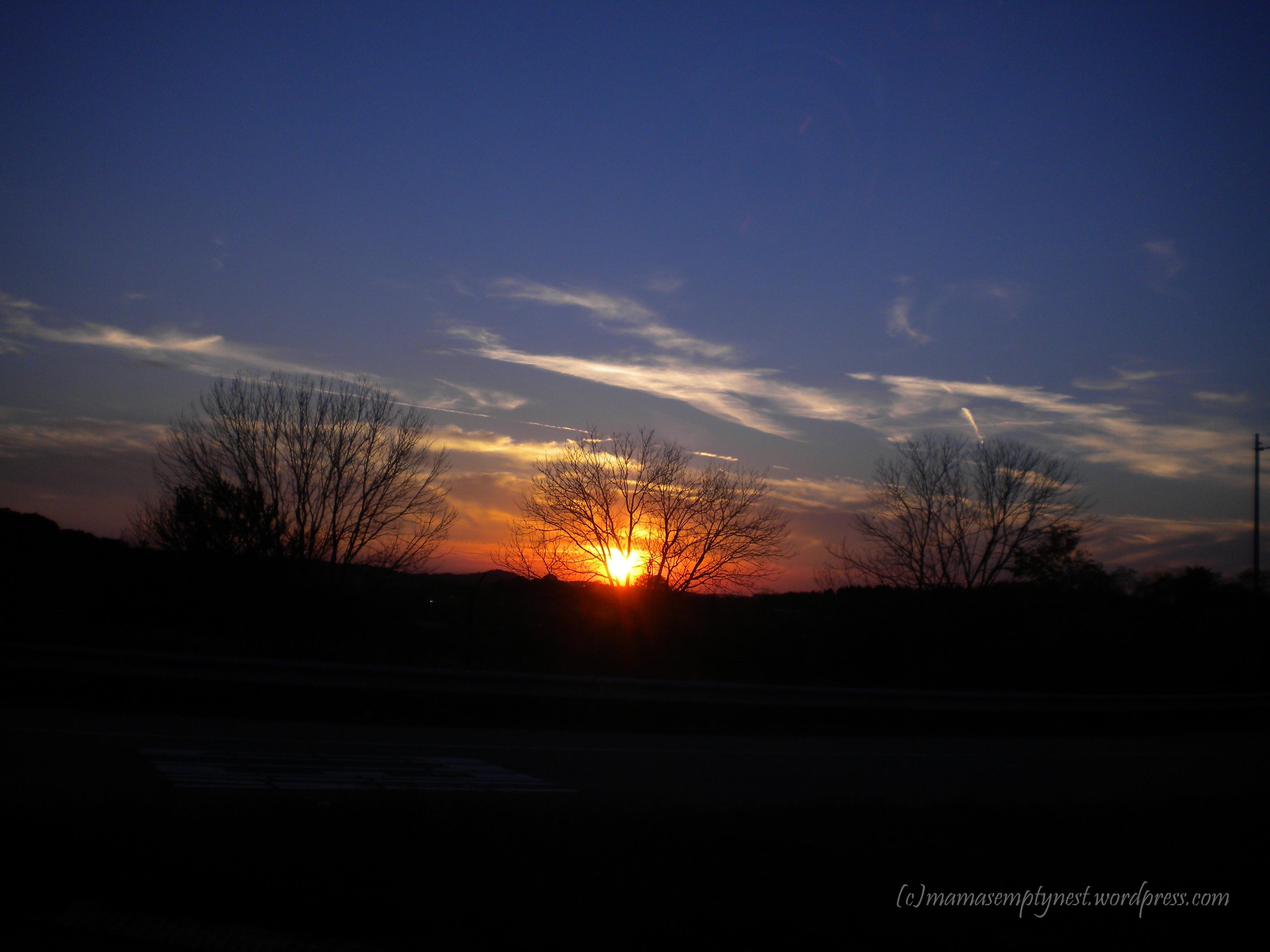 Wordless Wednesday Sunrise Sunset Mama S Empty Nest