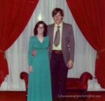 At a college dance in 1975