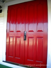 Red door at my church