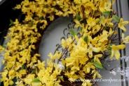 Yellow wreath on my front door