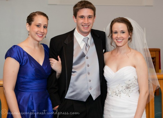 Our grown-up children at oldest daughter's wedding