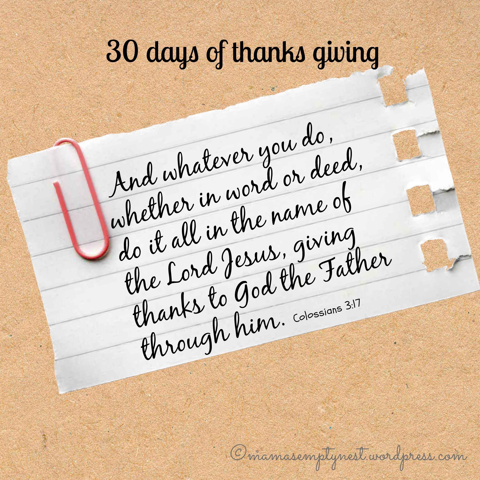 30 days of thanks3